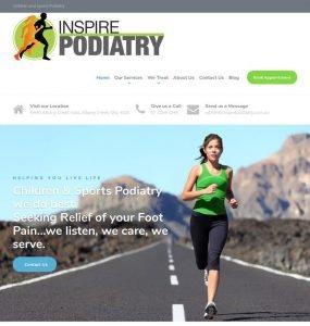Inspire Podiatry Website